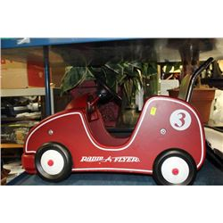 RADIO FLYER CHILD'S CAR W/ CHROME PUSH BAR AND