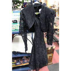 "LADY'S BLACK LACE ""LORRIANN"" DRESS W/ MBLARO"