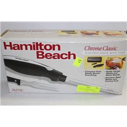 HAMILTON BEACH CHROME CLASSIC ELECTRIC KNIFE WITH