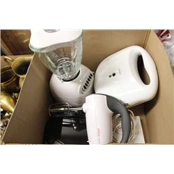 BOX WITH OSTERIZER 12-SPEED BLENDER, HAND BLENDER,
