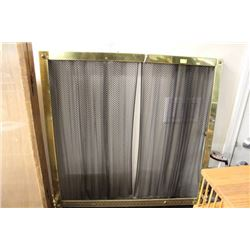 BRASS FIREPLACE CURTAIN SCREEN