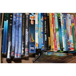 BOX OF KIDS DVD'S
