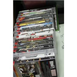 BUNDLE OF (18) PLAYSTATION 3 GAMES, (1)XBOX 360