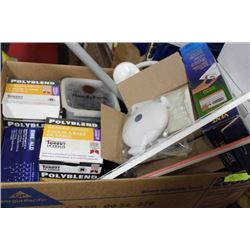 BOX OF MISCELLANEOUS HOUSEHOLD ITEMS