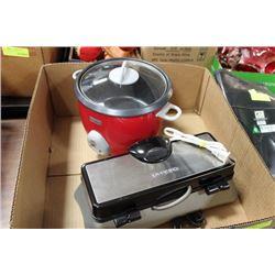 BOX W/ SUNBEAM 1.4LTR. RICE COOKER AND CUISINART