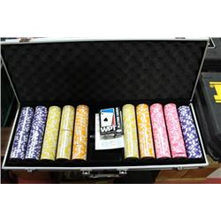 WPT TOURNAMENT PRO SERIES POKER SET IN CASE
