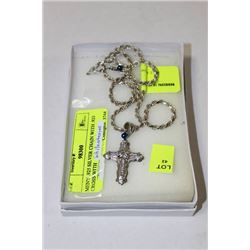MEN'S .925 SILVER CHAIN WITH .925 CROSS WITH