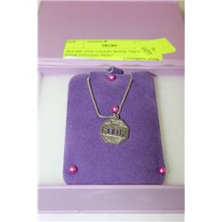 ".925 SILVER CHAIN WITH ""NEVER STOP LOVING YOU"""
