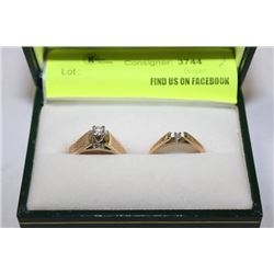 WEDDING SET 18K GOLD & DIAMOND ENGAGEMENT &