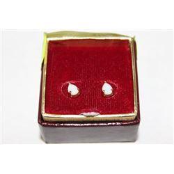 10K GOLD GENUINE OPAL EARRINGS