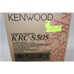 KENWOOD KRCS-505 CAR CD RADIO W/ FLIP DOWN FACE
