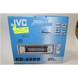 NEVER BEEN INSTALLED JVC CAR CD RECIEVER W/ REMOTE