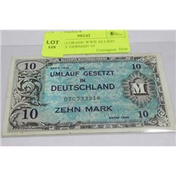 1944 HIGH GRADE WWII ALLIED MILITARY GERMAN 10
