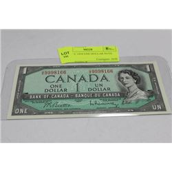 GEM UNC 1954 ONE DOLLAR NOTE