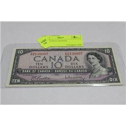 1954 TEN DOLLAR NOTE