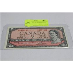1954 TWO DOLLAR NOTE WITH VG PREFIX