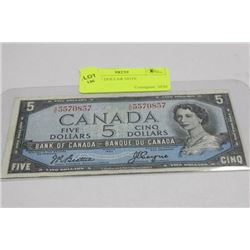 1954 FIVE DOLLAR NOTE