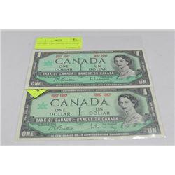 1967 MINT CENTENNIAL DOLLAR X2