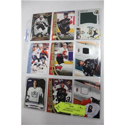 SHEET OF JERSEY & #'D CARDS - INCLUDING MALKIN,