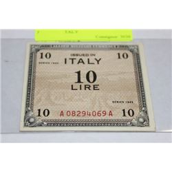 UNCIRCULATED WWII 1943 ALLIED MILTARY ITALY
