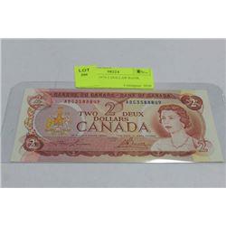 GEM UNC 1974 2 DOLLAR BANK NOTE