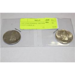 1967 CENTENNIAL SILVER WOLF 50 CENT COINS X