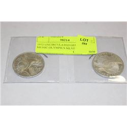 1972 UNCIRCULATED GERMANY MUNIC OLYMPICS SILVER