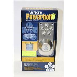 WEISER POWER BOLT TOUCH PAD ELECTRONIC DEADBOLT