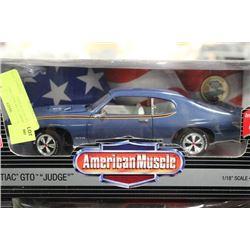 "1:18 AMERICAN MUSCLE 1969 PONTIAC GTO ""JUDGE"""