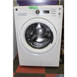 WHITE GE FRONTLOAD WASHER AND DRYER