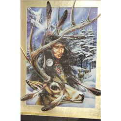 3D POP OUT NATIVE ART FRAMED PICTURE  23x19