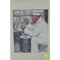 """NORMAN ROCKWELL FRAMED PICTURE """"HOW TO DIET"""""""