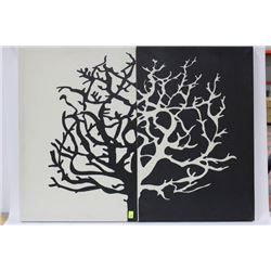 PAIR OF CANVAS BLACK AND WHITE PICTURES