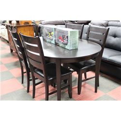 OVAL WOOD TABLE W 4 SIDECHAIRS