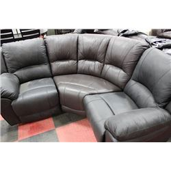 2 TONE BROWN AND BLACK LEATHER RECLINING