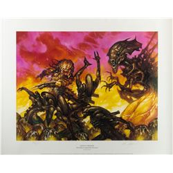 Alien vs. Predator Limited Edition Lithograph Signed by Artist Dave Dorman 1996