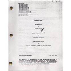 Set of Script and Storyboards from Jurassic Park