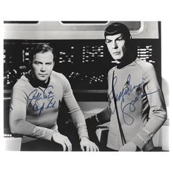 William Shatner & Leonard Nimoy Signed Star Trek TOS Photo