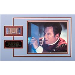 Star Trek: Generations Isolinear Chip & William Shatner Signed Photo