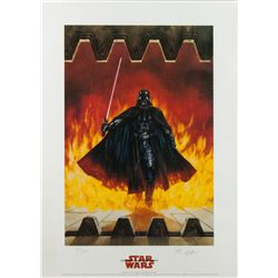 Set of 3 Limited Edition Star Wars Lithographs Signed by Artist Dave Dorman 1996