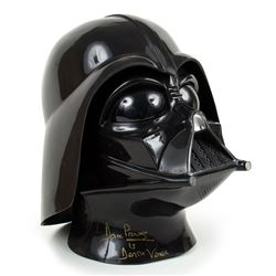 Don Post Star Wars Darth Vader Collector Helmet Signed by Dave Prowse Twice
