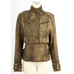 Total Recall (2012) Leather Jacket Worn by Jessica Biel as Melina