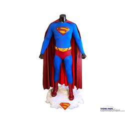 Superman Returns 2006 Brandon Ruth Complete Hero Flying Suit With Custom Ice Base