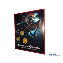 Pirates of the Caribbean Actual screen used pirates coins from Dead Mans chest in custom frame