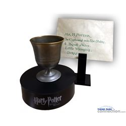 HARRY POTTER And The Sorcerer's Stone Screen Used Hogwarts Letter & Chalice PROP