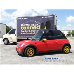 Disney MICKEY MOUSE 2004 MINI COOPER with Mouse Ears Custom Car