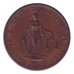 Breton # 717, Charlton # UC-3 Prosperity to Canada La Prudence et la Candeur 2d token, 1822 Leslie &