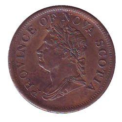 Breton # 870, Charlton # NS-2B2, 1832 Penny CCCS AU-58.
