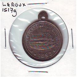 Leroux # 1517g, Montreal Exhibition Souvenir 1893 Crystal Palace, Reverse Exposition Provinciale Agr
