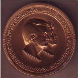 Medal; Governor General of Canada, Ramon John Hnatyshyn & Gerda Hnatyshyn, attributed to Gloria de P